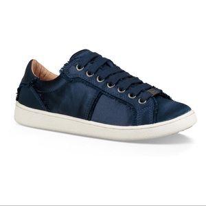 New UGG Milo Satin Spill Seam Sneaker, Navy Blue 7